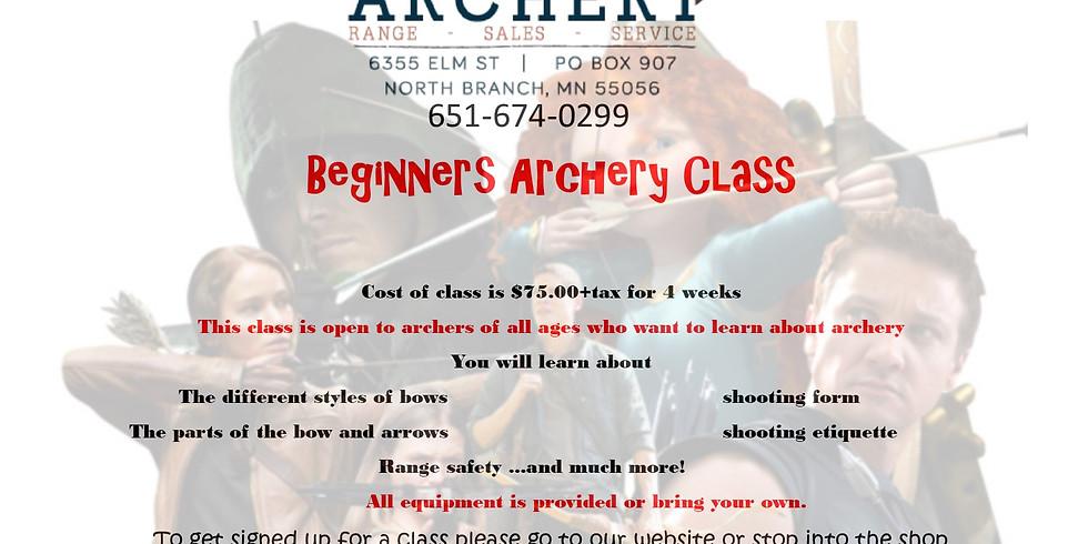 Beginner Archery Class- November