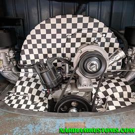 Checkered VW tin
