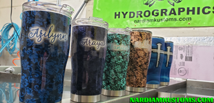 Dipped and Airbrushed tumblers
