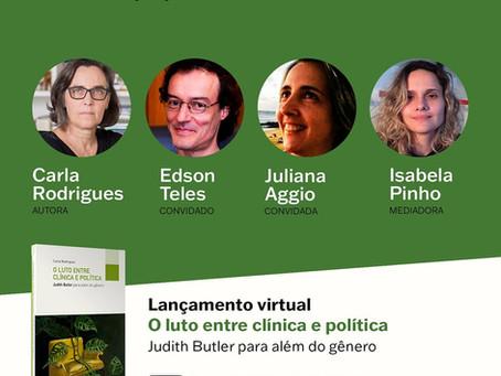 Lançamento_O luto entre clínica e política: Judith Butler para além do gênero