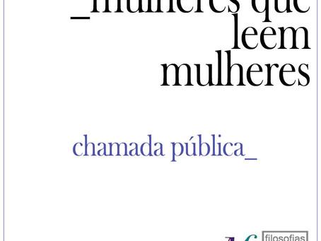 CHAMADA PÚBLICA PARA PARTICIPAÇÃO NO PROJETO MULHERES QUE LEEM MULHERES 2021