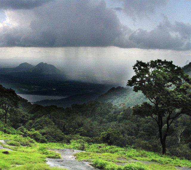 Rainstorm distant