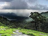 Temporal de lluvia distante