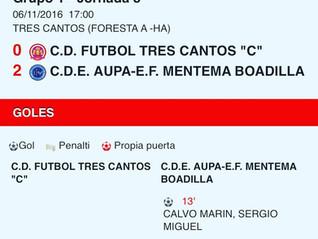 Crónica Senior A vs Tres Cantos - Fútbol Boadilla