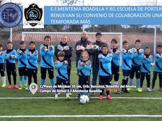 E.F.Mentema Boadilla y RG Escuela de porteros renuevan su convenio de colaboración una temporada más