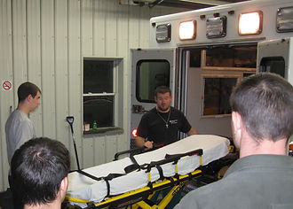 Ambulance Ride Time Students learn about stryker stretchers at Central Oneida County Volunteer Ambulance Corps