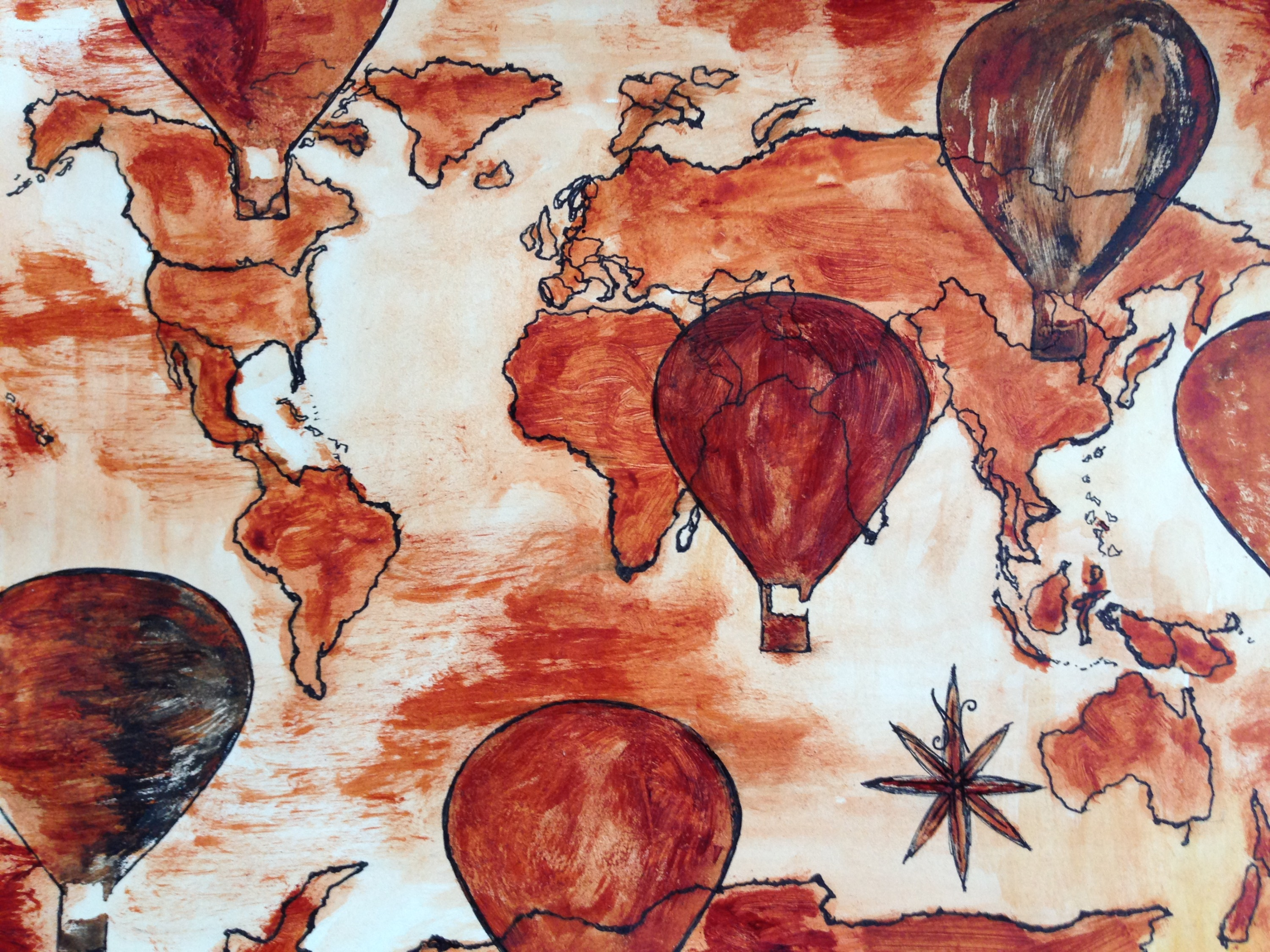 Hot Air Balloons Over the World