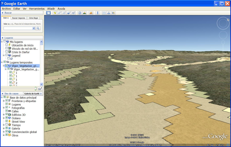 Vigor en Google Earth