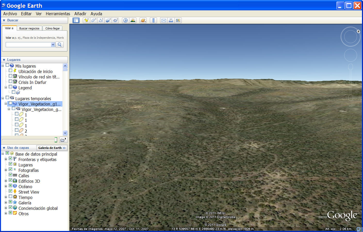 Vigor en Google Earth