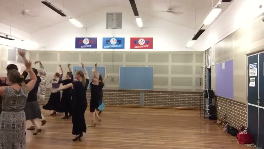 A snippet of flamenco dance classes