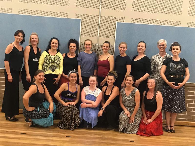 Flamenco classes students