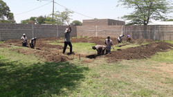 digging foundation for mother child health clinic