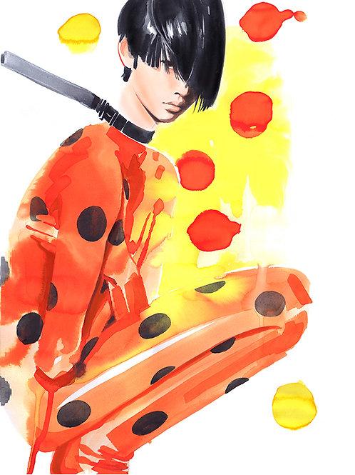 "Fashion illustration ""PRADA SS21"" / Original"