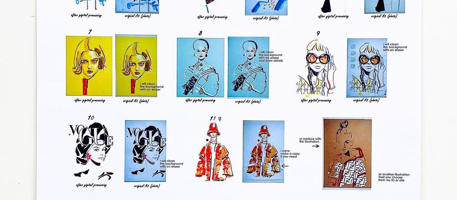 Exhibition «Fashion Illustration», France, Lille, Acid Gallery