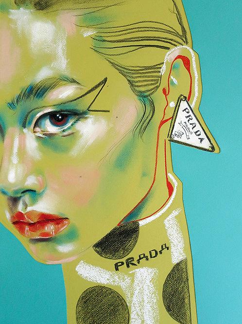 "Fashion illustration ""PRADA. NEW COLOUR"" / Original"
