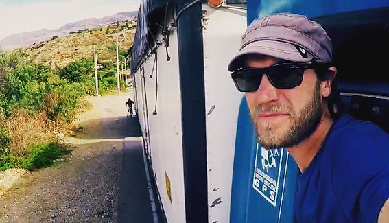 James Levelle extreme adventure filmmaker Free Ride Discovery Channel hitch hike truck south america andes