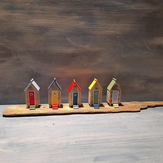 5 Colourful Beach Huts