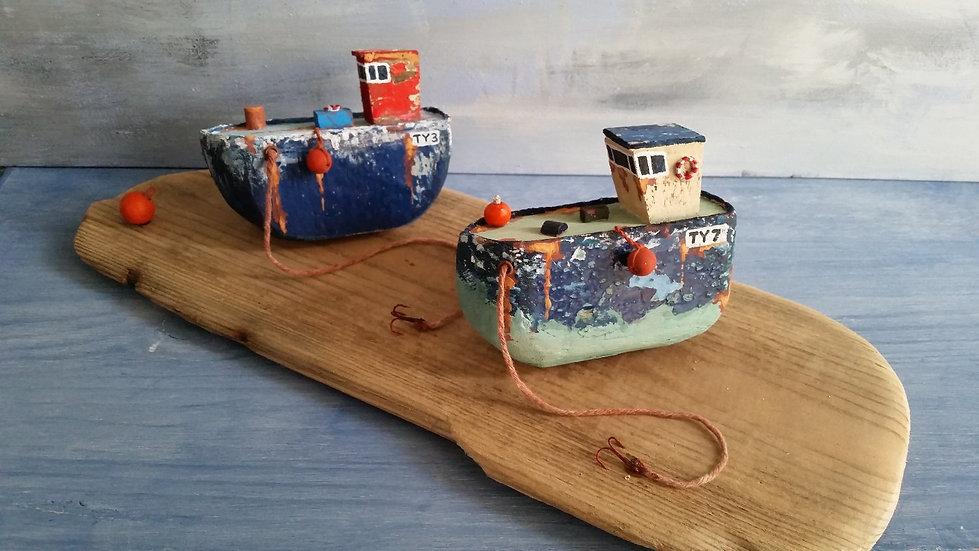 Crabbers at low tide                    9cm(h)x34cm(w)x14cm(d)