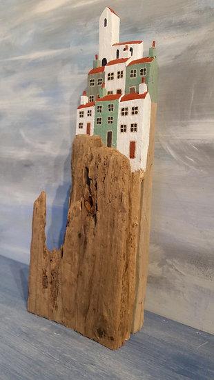 Village on the hill 1  10cm(l) x 29cm(h) x 6cm(d)