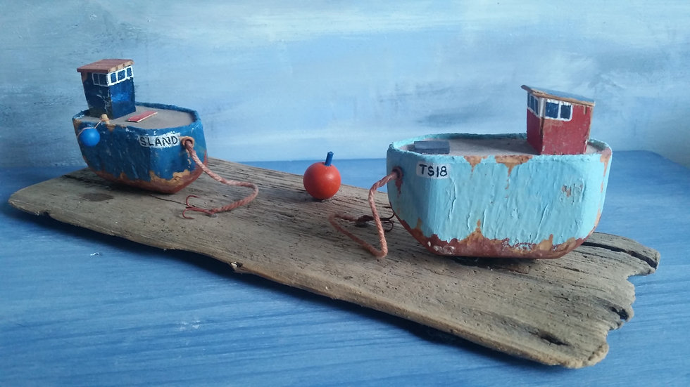 Two beached crabbers