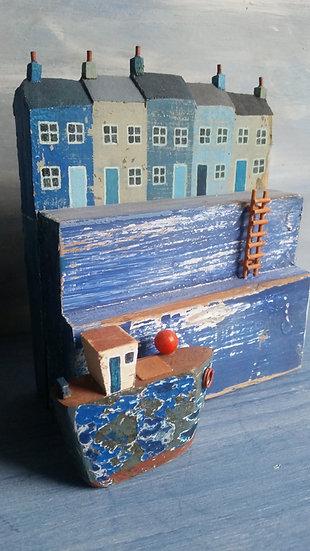 Blue Quay 17cm(h)x14cm(w)x8cm(d)