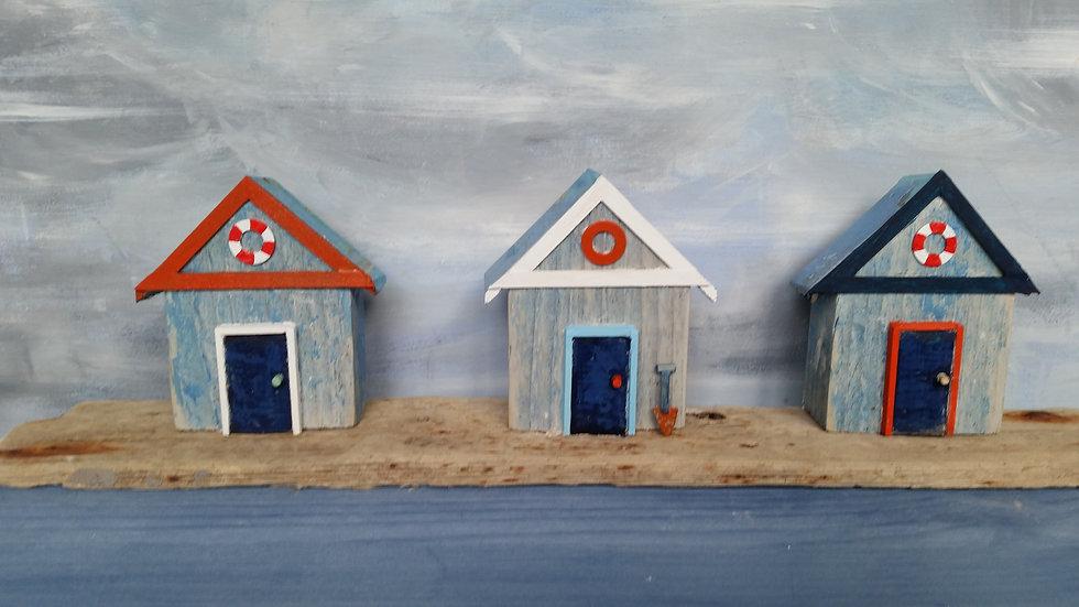 Three Beach Huts 1