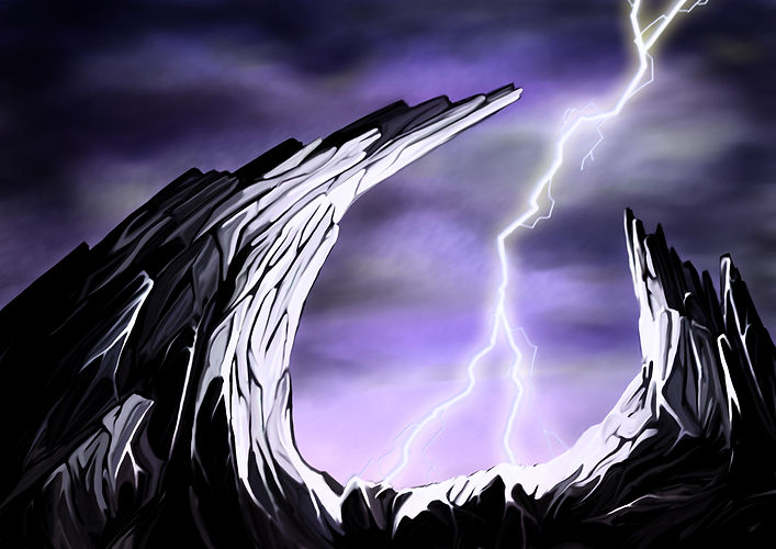 Lightning Fantasy Landscape