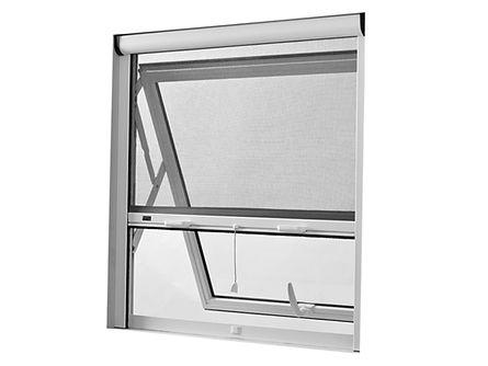 Tela Mosquiteira Recolhível instalada em uma janela Maxiar