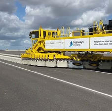 Brock barrier moving machine