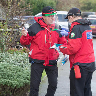 Kent Search and Rescue volunteers during Operation Barton