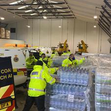 HM Coastguard providing mutual aid