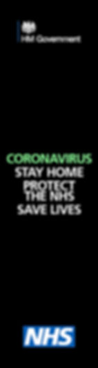 HM Governement Coronavirus stay home campaign banner