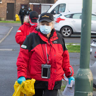 Kent Search and Rescue volunteer during Operation Barton