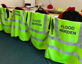 Flood warden hi-vis tabards