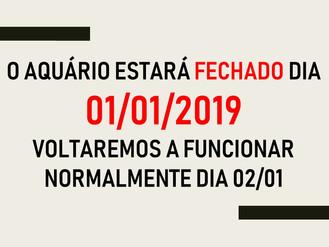 AQUÁRIO FECHADO NO DIA 01