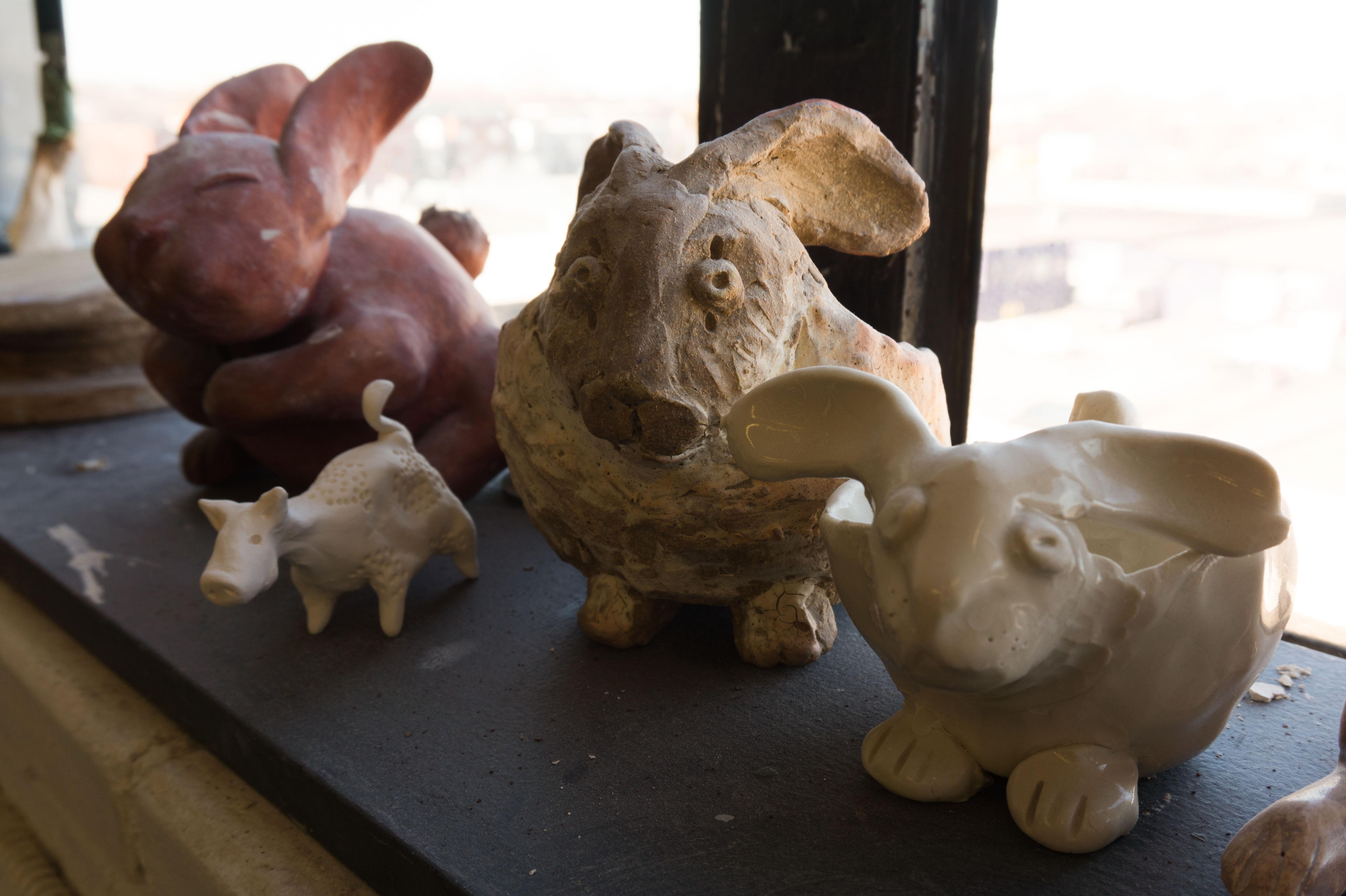 Sculpture petit Lapin pour Pâques