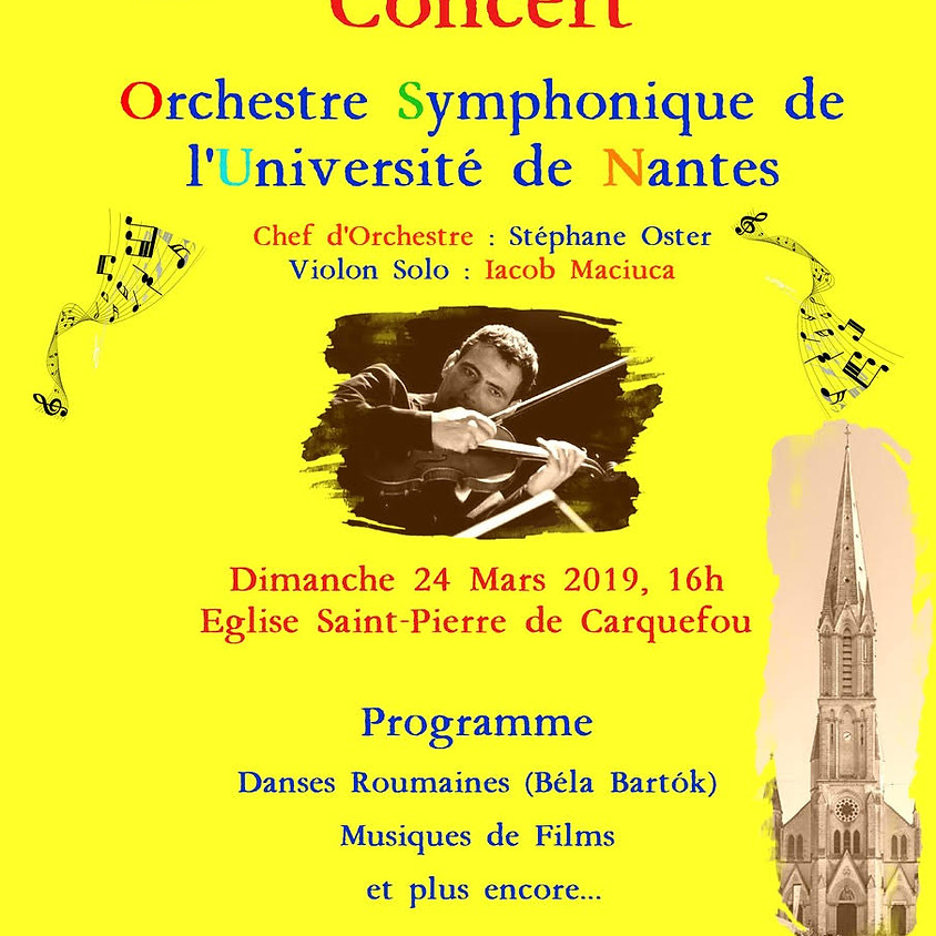 Concert OSUN - Jumelage Carquefou-Racovita