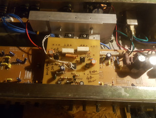 This marshall combo had a replacment output stage refit using a 150w module that is far more robust