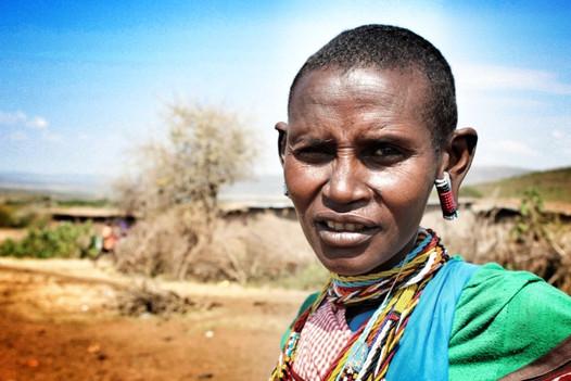 A Maasai lady