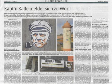 Presseaufmerksamkeit im Mai | Käpt'n Kalle in der RHEINPFALZ