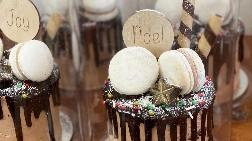 Wooden Mini Christmas Cake Topper