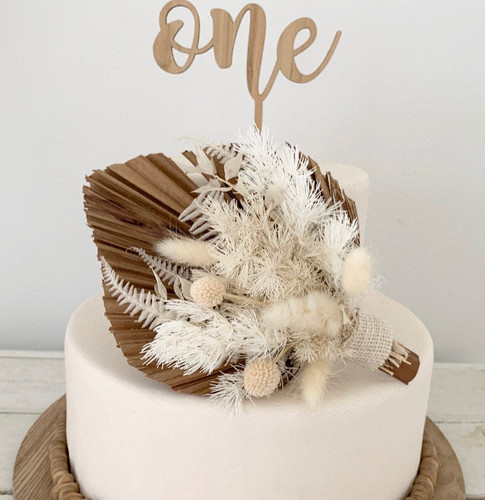 One Wooden Topper