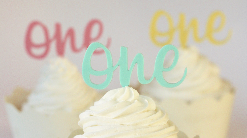 Number One Cupcake Toppers