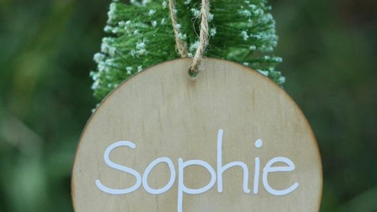 Personalised Wooden Baubles