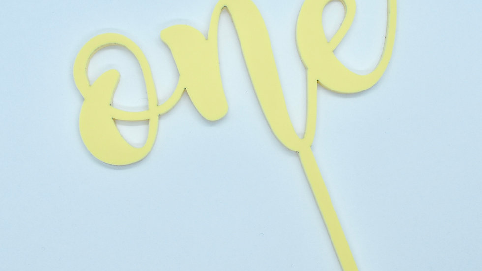 Number One Pastel Cake Topper