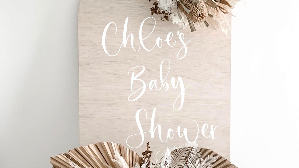 Personalised Baby Shower Arch Sign