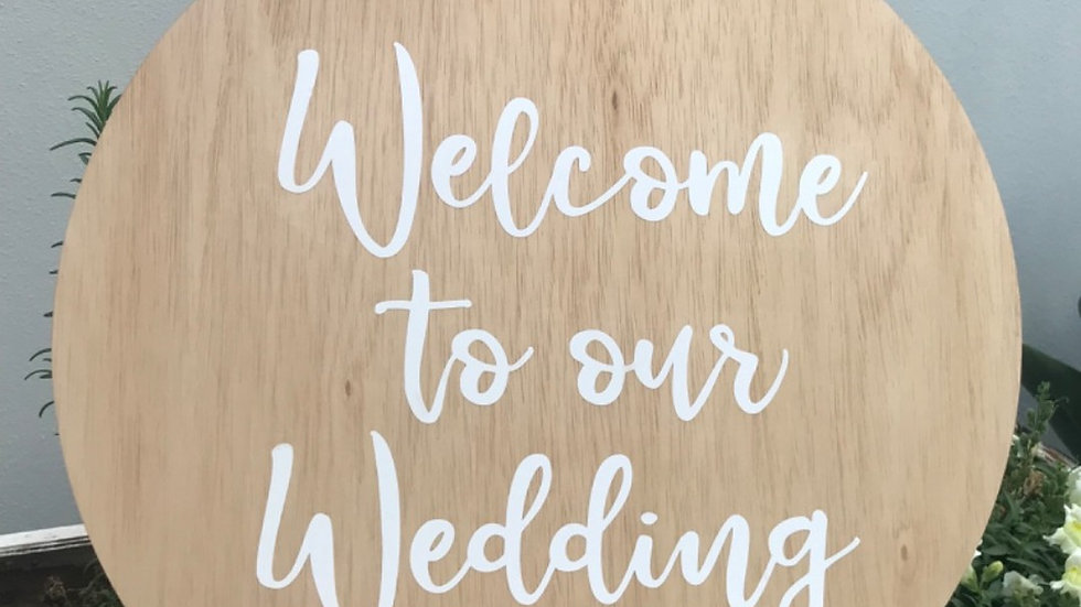 'Welcome to our Wedding