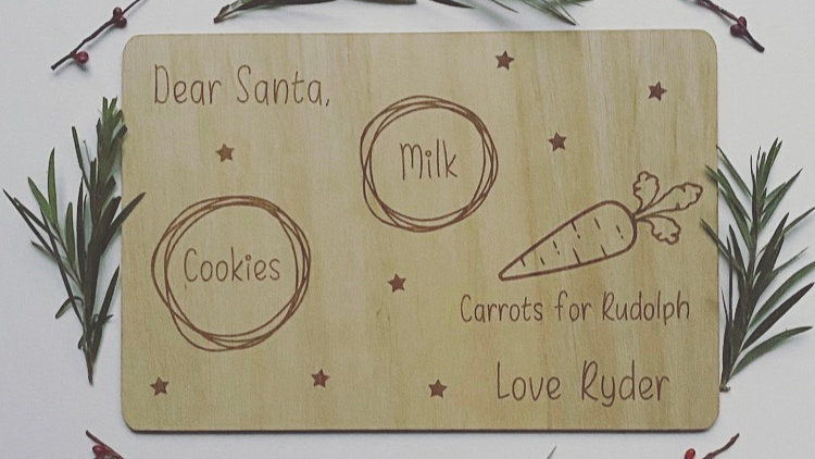 Personalised Christmas Eve Santa Placemat
