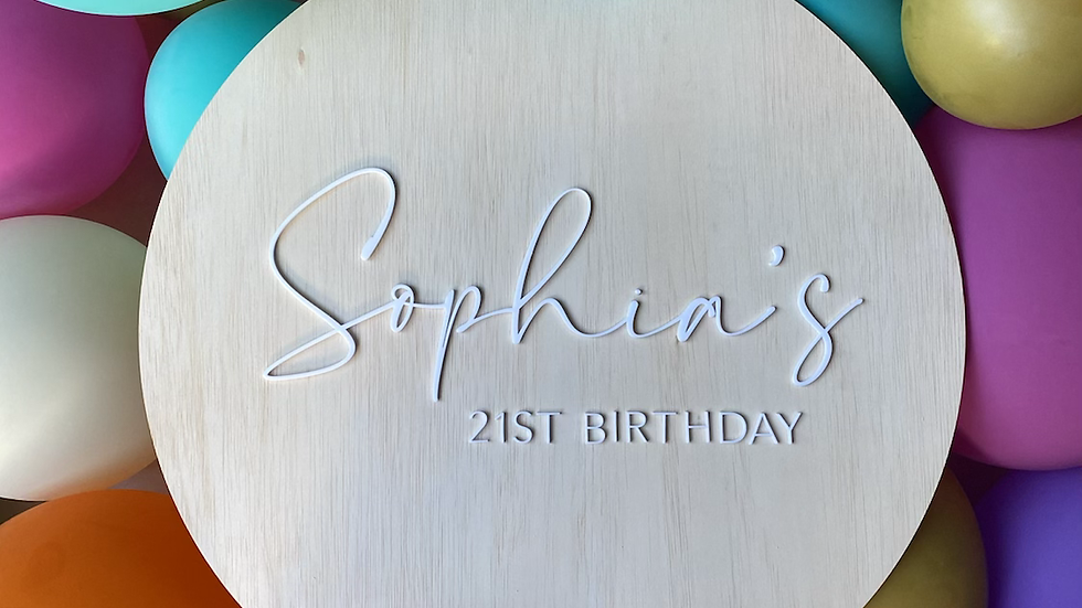 Personalised 21st Birthday Wooden Sign