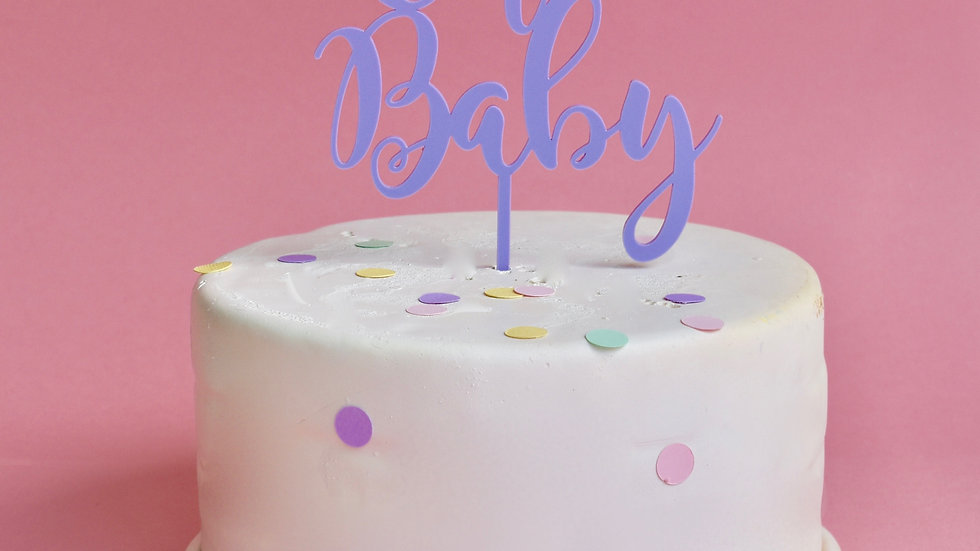 'Oh Baby' Pastel Cake Topper